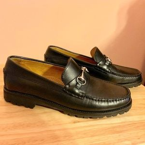 Cole Haan Black Loafer w/ Buckle - Size 7
